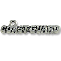 Charm - Coast Guard 8x33mm Antique Silver Plated (1-Pc)