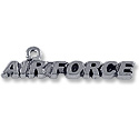 Charm - Air Force 8x33mm Antique Silver Plated (1-Pc)