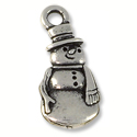 Charm - Frosty 23x10mm Pewter Antique Silver Plated (1-Pc)