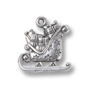 Charm - Christmas Sled 16.5mm Pewter Antique Silver Plated (1-Pc)