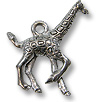 Charm - Giraffe 19x16mm Pewter Antique Silver Plated (1-Pc)