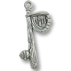 25x10mm Pewter Antique Silver Plated Baseball Bat Charm (1-Pc)
