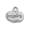 Charm - Inspire 9x12mm Pewter Antique Silver Plated (1-Pc)