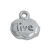 Charm - Live 9x11mm Pewter Antique Silver Plated (1-Pc)