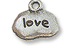 Charm - Love 9x13mm Pewter Antique Silver Plated (1-Pc)