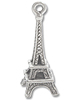 Charm - Eiffel Tower 21x8mm Pewter Antique Silver Plated (1-Pc)