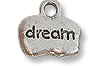 Charm - Dream 8x12mm Pewter Antique Silver Plated (1-Pc)