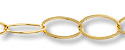 Flat Oval Link Chain 20x12mm Gold Plated (Priced per Foot)
