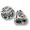Cone - Lily 9x9mm Pewter Antique Silver Plated (1-Pc)