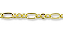 Figaro Chain 2.5mm Gold Plated (Priced per Foot)