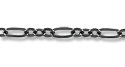 Figaro Chain 2.5mm Gun Metal Plated (Priced per Foot)