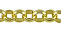 Rolo Link Chain 7mm Gold Plated (Priced per Foot)