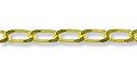 Long Curb Link Chain 2mm Gold Plated (Priced per Foot)
