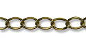 Curb Link Chain 4mm Antique Brass Plated (Priced per Foot)