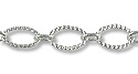 Oval Rope Link Chain 6mm Silver Plated (Priced per Foot)