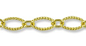 Hammered Oval Link Chain 9x6mm Gold Plated (Priced per Foot)