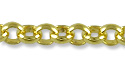 Rolo Link Chain 2mm Gold Plated (Priced per Foot)