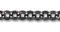 Rolo Link Chain 2mm Gun Metal Plated (Priced per Foot)