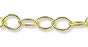 Round Cable Link Chain 6x5mm Gold Plated (Priced per Foot)