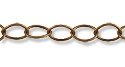 Oval Curb Link Chain 5mm Antique Copper Plated (Priced per Foot)