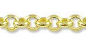 Rolo Link Chain 3.5mm Gold Plated (Priced per Foot)