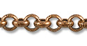 Rolo Link Chain 3.5mm Antique Copper Plated (Priced per Foot)