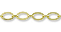 Flat Oval Link Chain 6mm Gold Plated (Priced per Foot)
