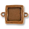 Link - Square Frame 19x19mm Pewter Antique Copper Plated (1-Pc)