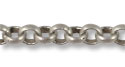 Rolo Link Chain 2mm Antique Silver Plated (Priced per Foot)