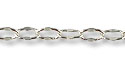 Crimped Oval Link Cable Chain 4 x 2.5 mm Silver Plated (Priced per Foot)