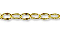 Crimped Oval Link Cable Chain 4 x 2.5mm Gold Plated (Priced per Foot)
