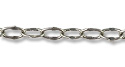 Fancy Oval Cable Link Chain 4 x 2.5mm  Antique Silver Plated (Priced per Foot)
