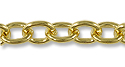 Cable Link Chain 7mm Gold Plated (Priced per Foot)