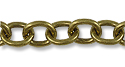 Cable Link Chain 7mm Antique Brass Plated (Priced per Foot)
