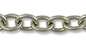 Cable Link Chain 7mm Antique Silver Plated (Priced per Foot)