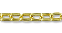 Double Cable Link Chain 6x4mm Gold Plated (Priced per Foot)