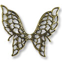 Connector - Filigree Butterfly 32x38mm Antique Brass Plated (1-Pc)