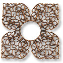 Connector - Filigree Clover 42mm Antique Copper (1-Pc)