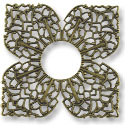 Connector - Filigree Clover 42mm Antique Brass Plated (1-Pc)