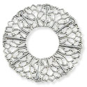 Connector - Filigree Donut 37mm Silver Plated (1-Pc)