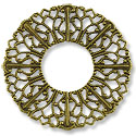 Connector - Filigree Donut 37mm Antique Brass Plated (1-Pc)