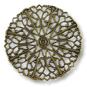 Connector - Filigree Disc 36mm Antique Brass Plated (1-Pc)