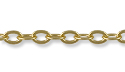 Cable Link Chain 4x3mm Satin Hamilton Gold Plated (Priced per Foot)