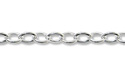 Flat Cable Link Chain 1.3mm Sterling Silver (Priced per Foot)