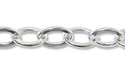 Flat Cable Link Chain 3mm Sterling Silver (Priced per Foot)