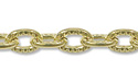 Fancy Cable Link Chain 3mm Gold Plated (Priced per Foot)