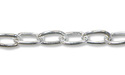 Drawn Cable Link Chain 2.0mm Sterling Silver (Priced per Foot)