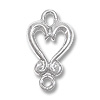 Connector Link Heart 17x10mm Sterling Silver (1-Pc)