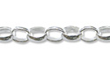 Rolo Link Chain 2.4mm Sterling Silver (Priced per Foot)