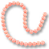Dyed Pink Coral Round Beads 5-6mm (16